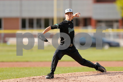 Zionsville high school pitcher Owen Evans (32) looks to bring the pitch to the plate during the game between Zionsville vs Brownsburg at Brownsburg High School in Brownsburg,IN. (Jeff Brown/Flyer Photo)