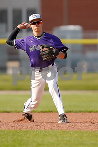 Brownsburg high school shortstop Luis Escalante  (13) fires to the first for the out during the game between Zionsville vs Brownsburg at Brownsburg High School in Brownsburg,IN. (Jeff Brown/Flyer Photo)