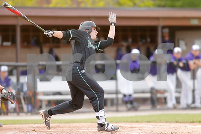 Zionsville high school first baseman Sam Edgell (19) connects for a double during the game between Zionsville vs Brownsburg at Brownsburg High School in Brownsburg,IN. (Jeff Brown/Flyer Photo)