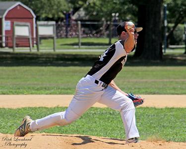 Ball leaving hand of Baseball pitcher.