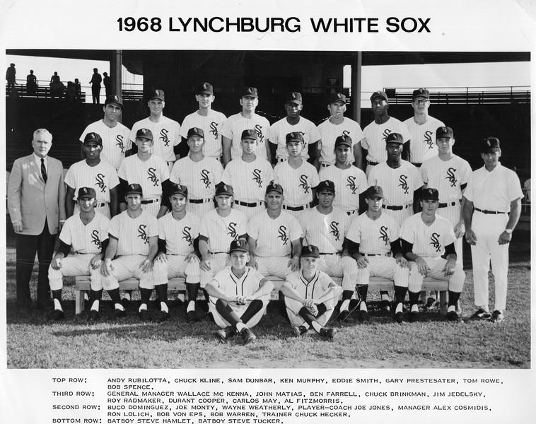 1968 Lynchburg White Sox  (O 2016.17.1)