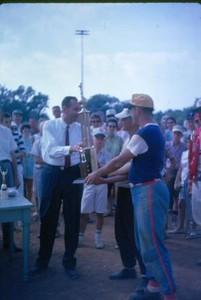 Man Receiving a Trophy II (01049)
