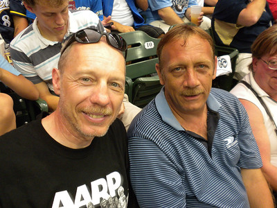 With Deano at Miller Park