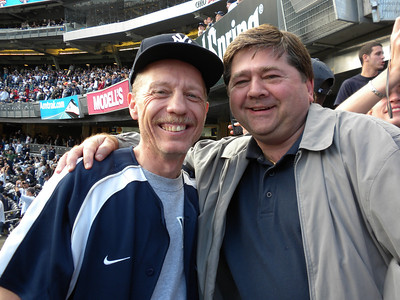 With Joe at Yankee Stadium