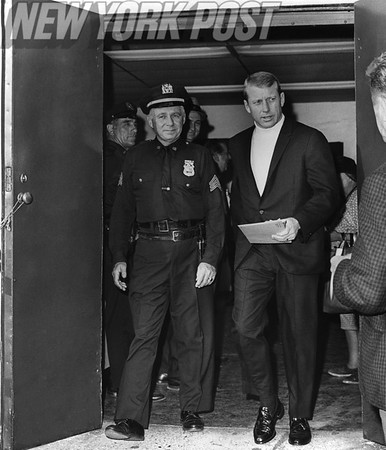 Mickey Mantle leaves Yankee Stadium for the last time as a player. 1968
