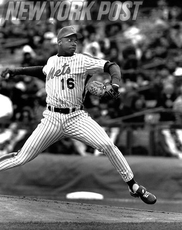 Dwight Gooden Pitching at Shea Stadium. 1991