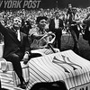 Yankees Mickey Mantle during his number retirement ceremony at Yankee Stadium