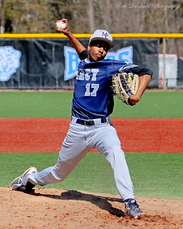 Mercy College pitcher in action.