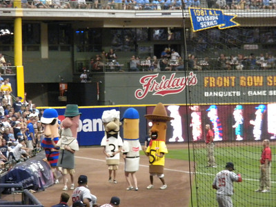 The brats race at Miller Park