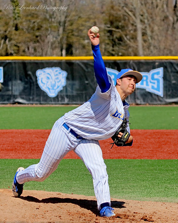 NYIT pitcher in action.