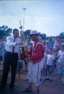 Man Receiving a Trophy I (01048)