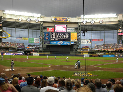 Miller Park, home of the Milwaukee Brewers, July 2010