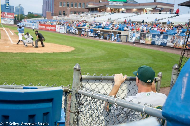 Waiting at the gate in the minor leagues (Wilmington vs. Lynchburg, 2011)
