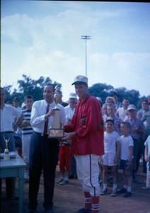 Man Receiving a Trophy V (01052)