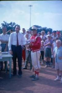 Man Receiving a Trophy III (01050)