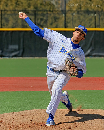 NYIT pitcher in action. March 31, 2018