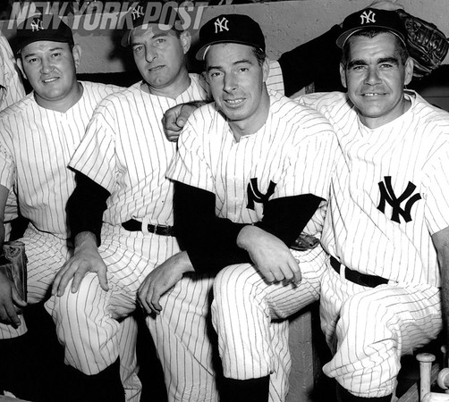 Yankees Greats at the 1956 Old Timers Day at Yankee Stadium. 1960