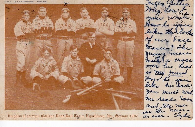 Virginia Christian College Baseball Team  (0 2017 .54  .5)