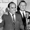 Yogi Berra with Ralph Houk at Yankees Press Event