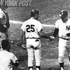 Mickey Mantle after hitting Home Run No. 508