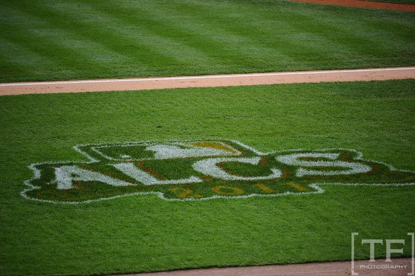Oct 13, 2011; Detroit, MI, USA; The ALCS logo at the game between the Detroit Tigers and the Texas Ranger of game five of the 2011 ALCS at Comerica Park. Mandatory Credit: Tim Fuller-US PRESSWIRE