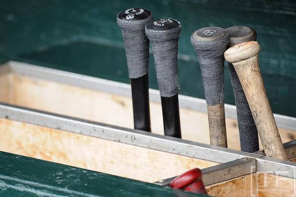 Oct 13, 2011; Detroit, MI, USA; Bats prior to game five of the 2011 ALCS between the Detroit Tigers and the Texas Rangers at Comerica Park.  Mandatory Credit: Tim Fuller-US PRESSWIRE