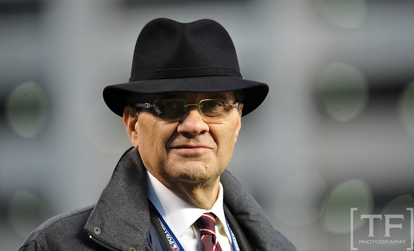 Oct 16, 2012; Detroit, MI, USA; MLB executive vice president of baseball operations Joe Torre in attendance before game three of the 2012 ALCS between the New York Yankees and Detroit Tigers at Comerica Park.  Mandatory Credit: Tim Fuller-USA TODAY Sports