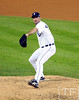 Oct 16, 2012; Detroit, MI, USA; Detroit Tigers starting pitcher Justin Verlander throws a pitch against the New York Yankees in the 7th inning during game three of the 2012 ALCS at Comerica Park.  Mandatory Credit: Tim Fuller-USA TODAY Sports