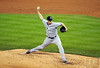 Oct 16, 2012; Detroit, MI, USA; New York Yankees pitcher Cody Eppley throws a pitch against the Detroit Tigers in the 5th inning during game three of the 2012 ALCS at Comerica Park.  Mandatory Credit: Tim Fuller-USA TODAY Sports
