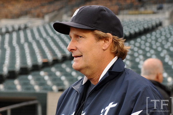 Oct 16, 2012; Detroit, MI, USA; Movie actor and recording artist Jeff Daniels in attendance before game three of the 2012 ALCS between the New York Yankees and Detroit Tigers at Comerica Park.  Mandatory Credit: Tim Fuller-USA TODAY Sports