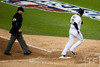 Oct 6, 2012; Detroit, MI, USA; Detroit Tigers catcher Alex Avila (13) crosses home plate after hitting a home run during the fifth inning of game one against the Oakland Athletics of the 2012 ALDS at Comerica Park.  Mandatory Credit: Tim Fuller-US PRESSWIRE