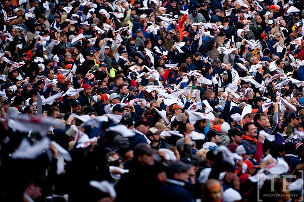 Oct 7, 2012; Detroit, MI, USA; A general view of fans during game two of the 2012 ALDS between the Detroit Tigers and the Oakland Athletics at Comerica Park. Detroit won 5-4. Mandatory Credit: Tim Fuller-US PRESSWIRE