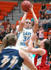 Sullivan South's #34 Makensey Campbell, goes up for shot over team Virginia's defense. Photo by Ned Jilton II