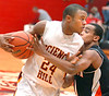 Science Hill's #24, Will Adams, battle against Morristown East's #10, Willie Thornhill, to keep the ball. Photo by Ned Jilton II