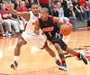 Cherokee's #2, James Scales, pushes past Science Hill defneder. Photo by ned Jilton II