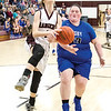 Star Photo/Larry N. Souders<br /> The Lady Rangers' Sarah Tipton (1) takes a steal coast to coast beating a Cosby defender to the basket for a layup.