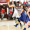 Star Photo/Larry N. Souders<br /> The Lady Rangers' Erika Potter (44) puts a runner up in the lane against Cosby.