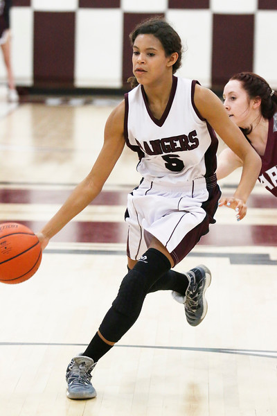 Star Photo/Bryce Phillips <br /> Unaka's Cydney Forney drives inside for the Lady Rangers. Forney finished the night with 12 points Thursday.