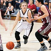 Star Photo/Bryce Phillips <br /> Unaka's Sydney Markland drives the ball against Happy Valley's Tiana Long.