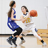 Star Photo/Bryce Phillips <br /> Cloudland's Krisi Bare looks to make a pass while Hunter's Lyndie Ramsey guards.