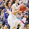 Star Photo/Bryce Phillips <br /> Cloudland' Elementary's Ambrien Blair drives in for a shot during Tuesday's championship game against Hunter Elementary.