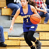 Star Photo/Bryce Phillips <br /> Hunter's Julianna Simerly pushes the ball upcourt.