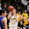 Record-Eagle/Keith King<br /> Glen Lake's Sophie Ewing shoots the ball against Kalkaska Friday, March 4, 2011 at Glen Lake High School.