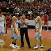The umpire trying to let some Gold Coast Blaze players down gently that yes, they are going to lose!!