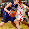12-13-13   ---  Northwestern HS vs Taylor HS boys Basketball<br /> Jacob Wagner going in for a shot.<br />   KT photo | Tim Bath