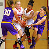 12-13-13   ---  Northwestern HS vs Taylor HS Girls Basketball<br /> A ball fight between Sydney Zeck, Kaitlynn Good, Rayven Johnson and Kaitlyn Daanen.<br />   KT photo | Tim Bath