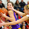 12-13-13   ---  Northwestern HS vs Taylor HS Girls Basketball<br /> Northwestern's Kaitlyn Daanen being tightly guarded by Taylor's Kaitlynn Good.<br />   KT photo | Tim Bath
