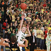 Record-Eagle/Keith King<br /> Traverse City West's Graeme Placek shoots the ball against Traverse City Central Thursday, January 20, 2011 at Traverse City West High School.