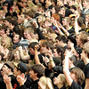 Record-Eagle/Keith King<br /> Traverse City Central students cheer for the boys varsity basketball team as they play against Traverse City West Thursday, January 20, 2011 at Traverse City West High School.