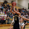 Record-Eagle/Keith King<br /> Cadillac's Jalen Brooks shoots the ball against Traverse City West Tuesday, January 31, 2012 at Traverse City West High School.